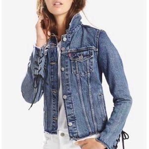Levi's Trucker Cotton Lace-Up Denim Jacket size L